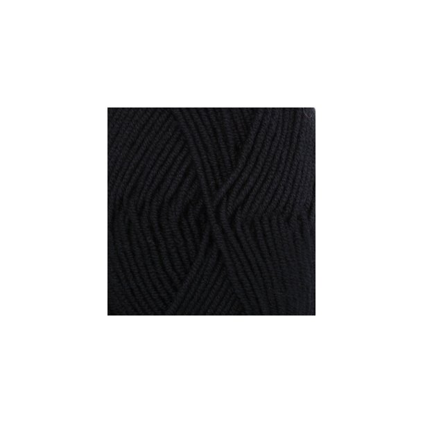 DROPS Merino Extra Fine Garn Unicolor Fv. 02 Sort