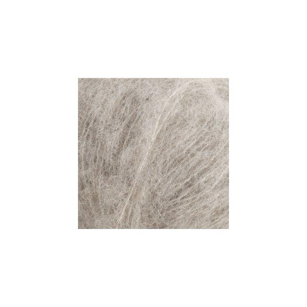 DROPS Brushed Alpaca Silk Garn Unicolor Fv. 02 Lys Grå