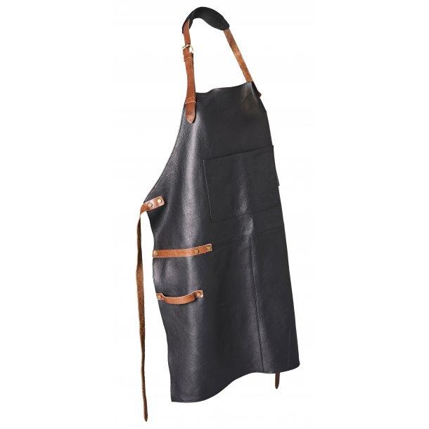 Bon Goût - Læder forklæde FV. Black/Cognac