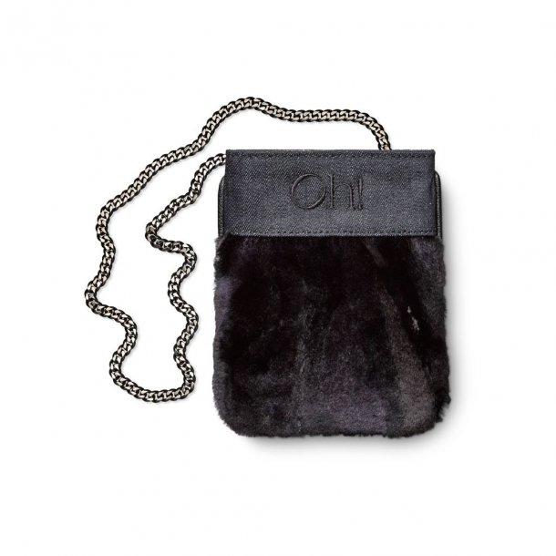Oh! Mini Clutch Denim Plate - By Kopenhagen Fur.