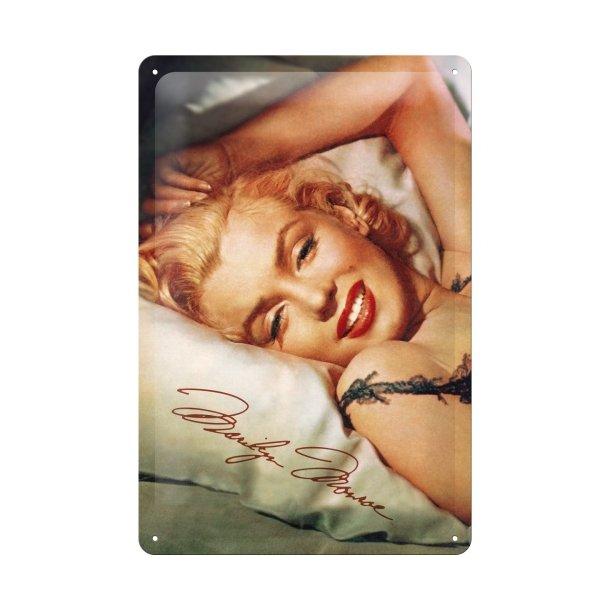 Emalje Barskilt - B48 - Marilyn Monroe Bed  20x30 cm.