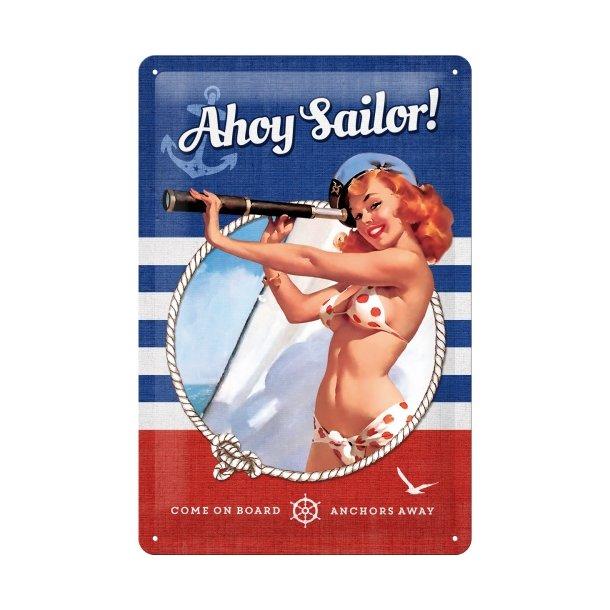 Emalje Barskilt - B50  - Ahoy Sailor!  20x30 cm.