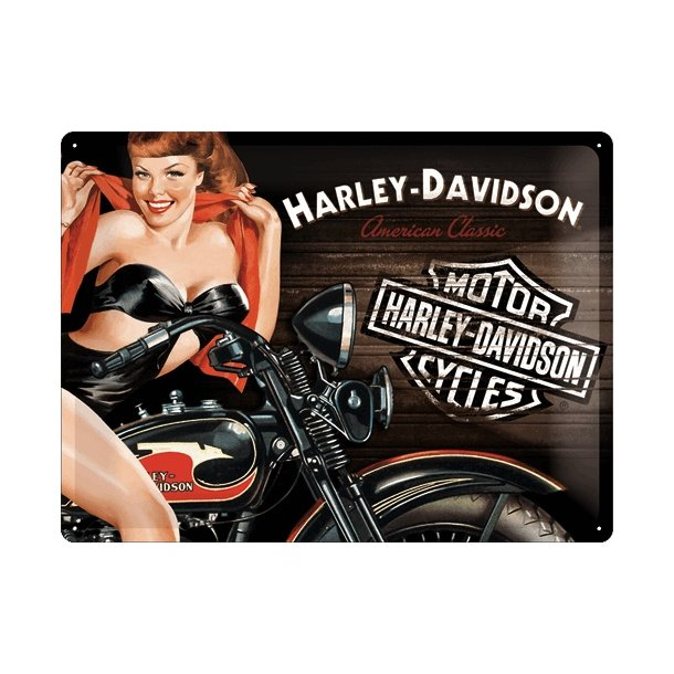 Barskilt - B64 - Harley Davidson Hot Babe. 30x40 cm.