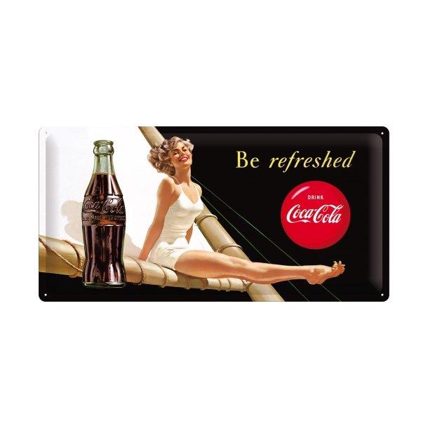 Emalje Barskilt - B55 - Coca-Cola  Be refreshed Lady