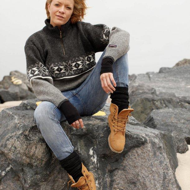 Norwool Norsk strik sweater i 100% ren ny Uld & høj hals.  (4205F-74)