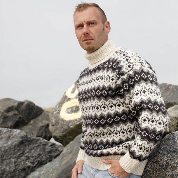 sweater med rullekrave