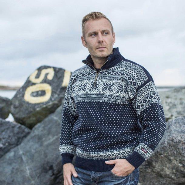 Original Norsk Sweater i Telemarks Design 100% Uld. (123F-769
