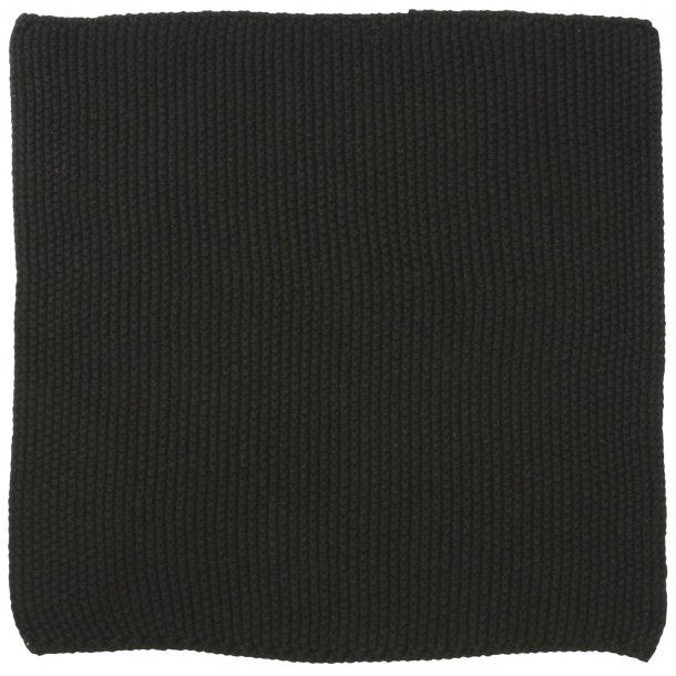 Karklud Mynte Pure Black strikket