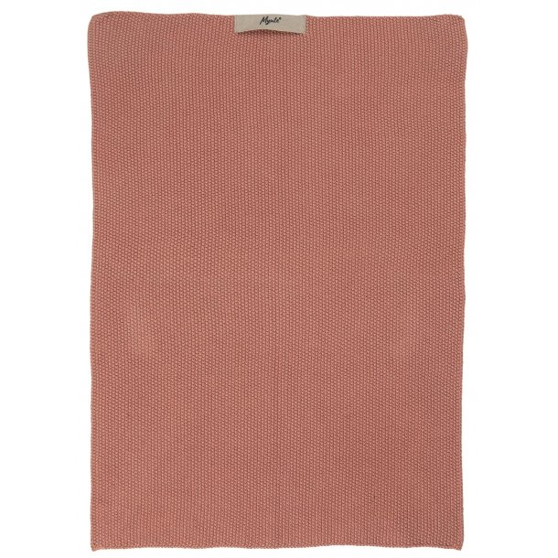 Håndklæde Mynte Strikket - Fv. Desert Rose
