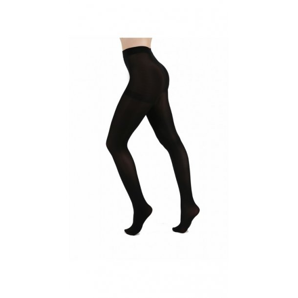 80 Denier Opaque Tights-Black One-Size