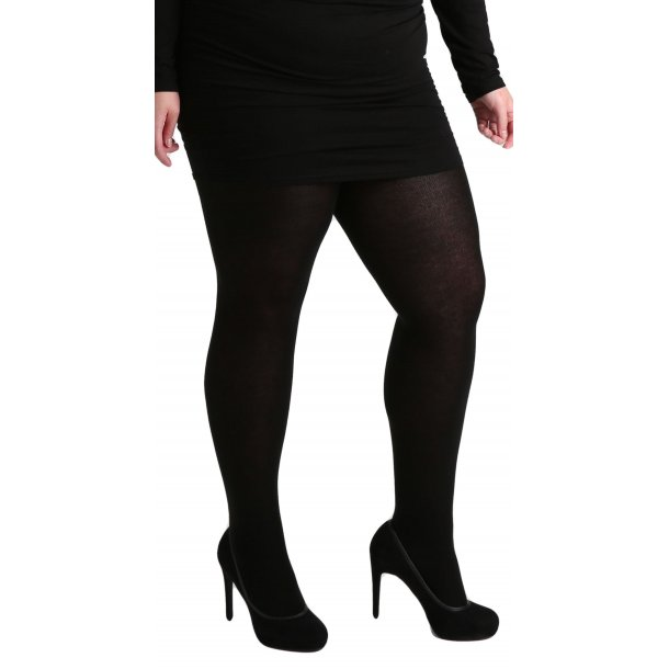 90 DENIER CURVY SUPER-STRETCH TIGHTS (BLACK)