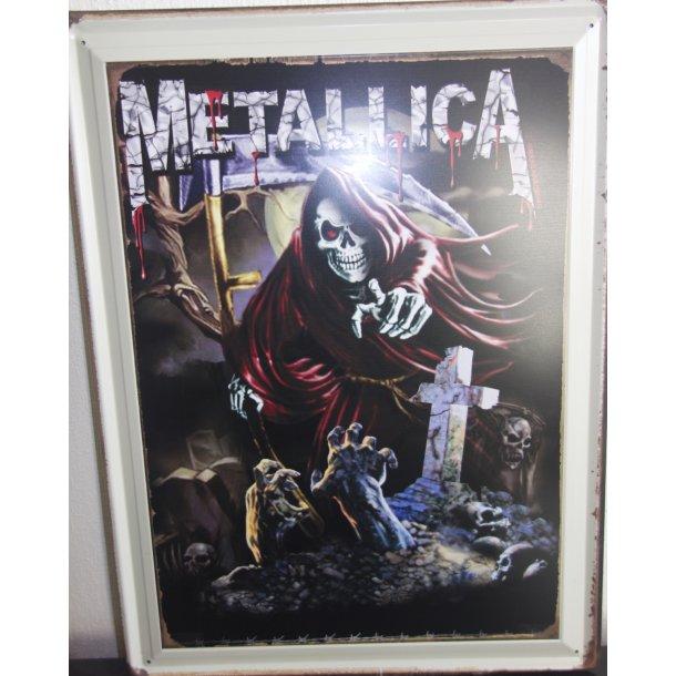METALLICA Nostalgi Metal skilt