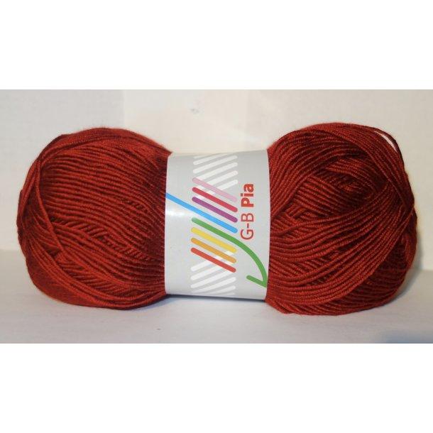 PIA - GB Garn 150 Gr. Fv: 22 Mørk Rød