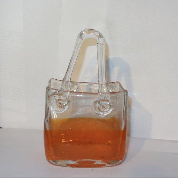 Glasvase Håndlavet som taske