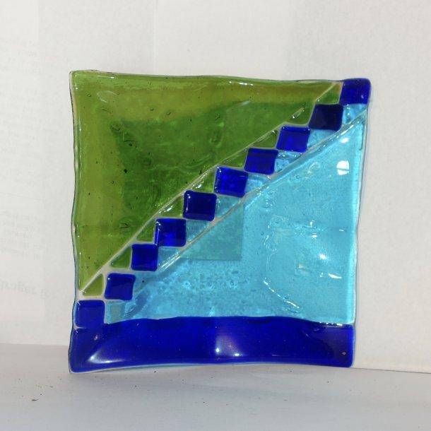 Glasfad 15x15 cm.