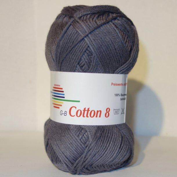 Cotton 8 Fv. 1003 - Antrazit Grå.