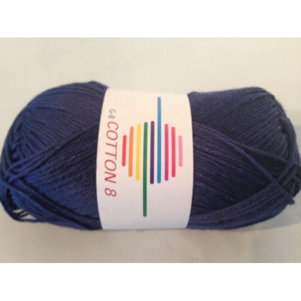 Cotton 8 Fv. 1020 - Marine Blå