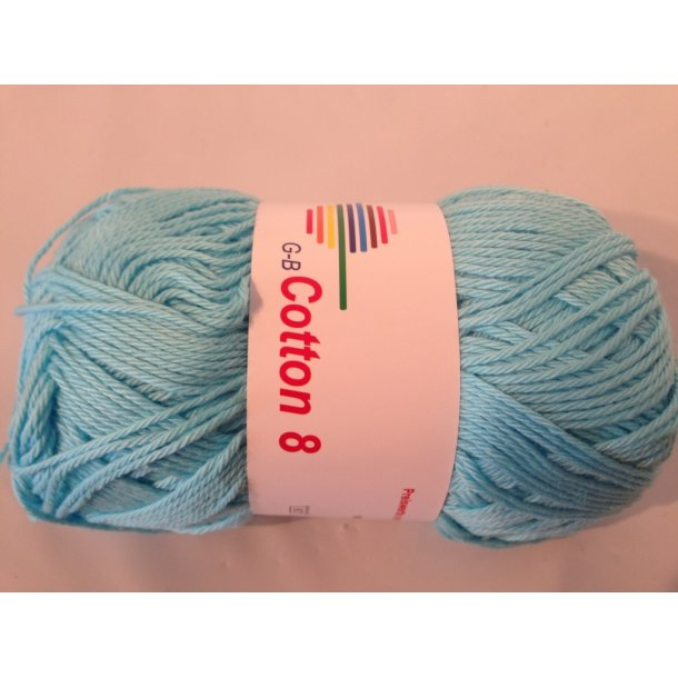 Cotton 8 Fv. 1460 - Isblå