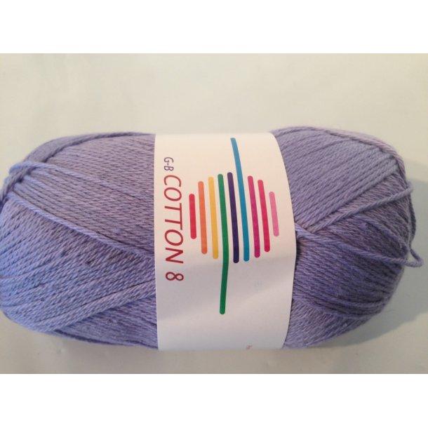 Cotton 8 Fv. 1435 - Lavendel.