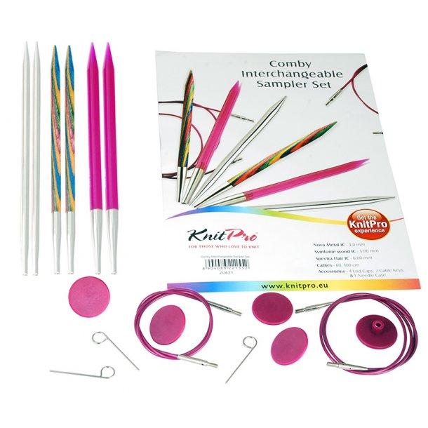 KnitPro Combi Sæt med 3 forskellige pinde. (No.20621)