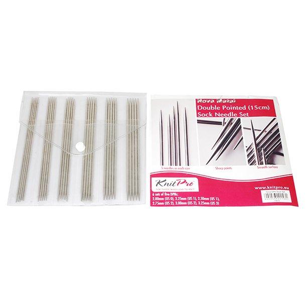 KnitPro Strømpepinde sæt - Nova Metal 15 cm 5 stk