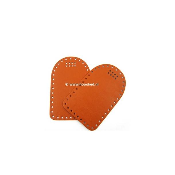 Sider til taske i læder. Fv. Orange