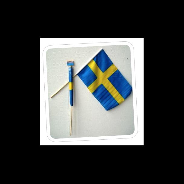 SVENSK FLAG PÅ PIND, STOF 50 CM