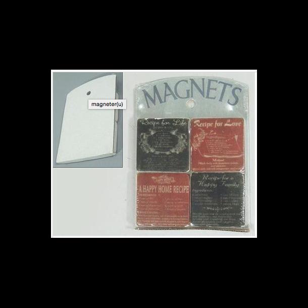 4 Magneter på plade