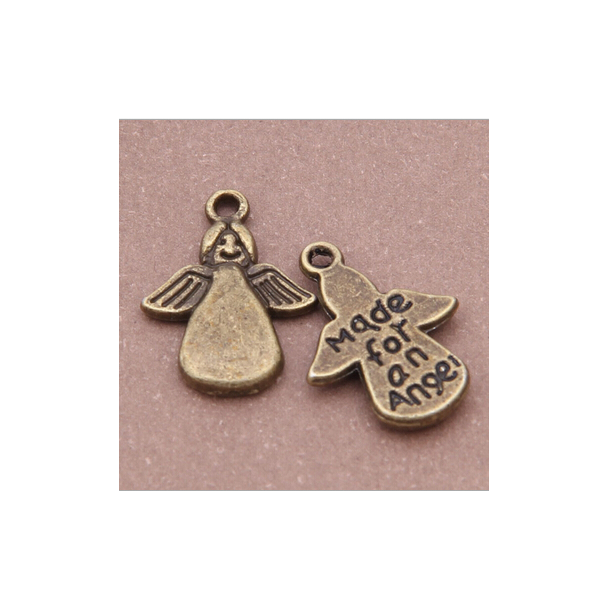 Charms vedhæng Made for an angel - bronzelook