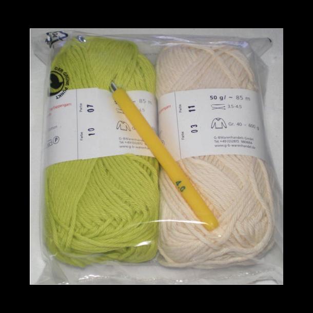 Startkit Fv: Natur/Lime. - Incl nål.