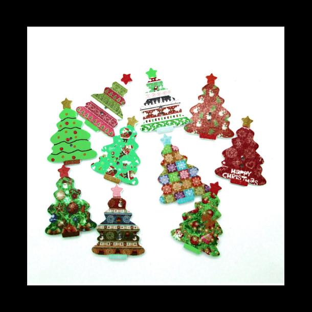 Knap i Hård træ - Model Juletræ (Sæt a 10 stk)