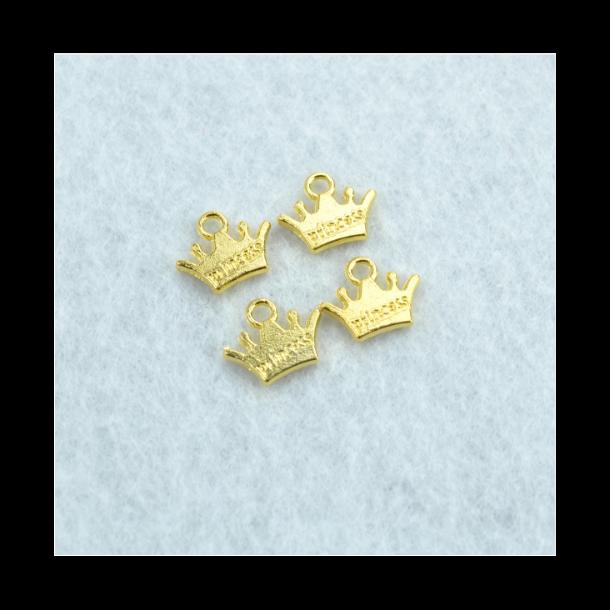 Charms - Krone guldfarvet. 10 stk.