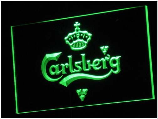 carlsberg led neon skilt bar neon led skilte. Black Bedroom Furniture Sets. Home Design Ideas