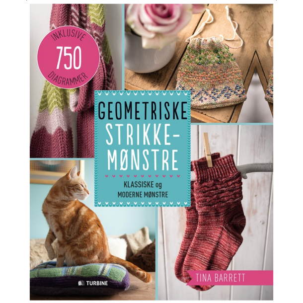 Geometriske Strikkemønstre - Opskriftsbog af Tina Barrett