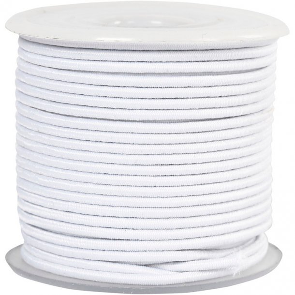 Elastiksnor 3mm Hvid