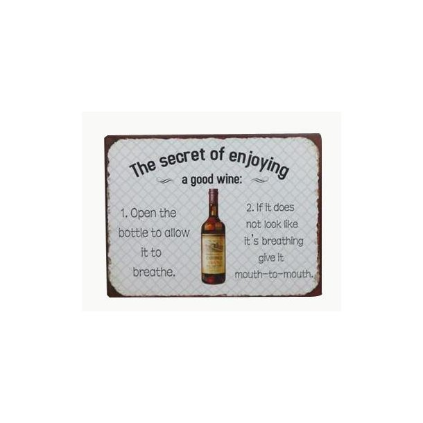 Barskilt - B15 - The secret of enjoying a good wine...