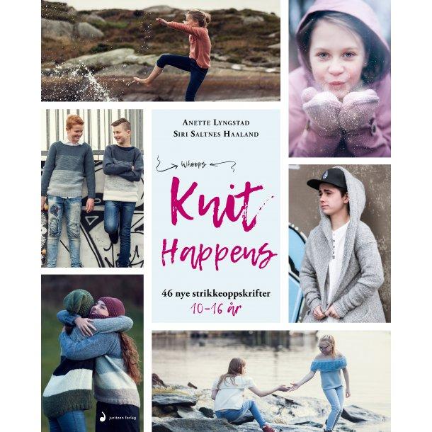 Knit Happens - Opskriftsbog 10-16 år.