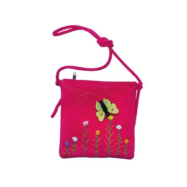 Gamcha - Taske med sommerfugl og blomster
